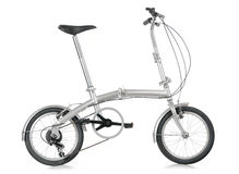 Folding bike. Portable collapsible folding bicycle bike Royalty Free Stock Images