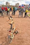 Folding bike Strida. Royalty Free Stock Photo