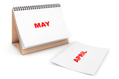 Folding Calendar with May month page Royalty Free Stock Images