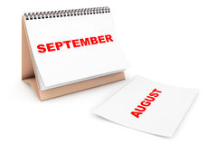 Folding Calendar with September month page Stock Photography
