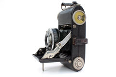 Folding camera Royalty Free Stock Image