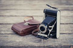 Folding Camera Royalty Free Stock Photo
