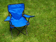 Folding camp chair Royalty Free Stock Photos