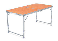 Folding camping table Royalty Free Stock Images