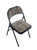 Folding Chair. Folding office chair with soft seat cushion Stock Photos