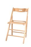 Folding chair. Folding wooden chair it is isolated on a white background Stock Photos