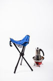 Folding chair camping Royalty Free Stock Photography
