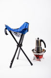 Folding chair camping Royalty Free Stock Image