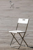 The folding chair. Royalty Free Stock Image