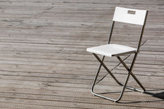 The folding chair. Stock Photo