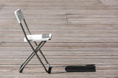 The folding chair. Stock Images