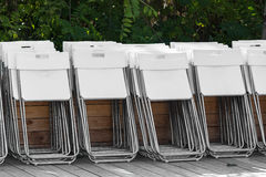 The folding chair. Royalty Free Stock Photos