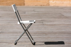 The folding chair. Stock Photography