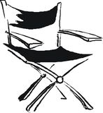 Folding chair sketch Stock Photo