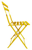 Folding Chair Yellow Royalty Free Stock Photos