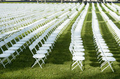 Folding Chairs 2. Folding chairs set up for a college graduation ceremony Stock Images