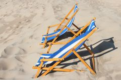 Folding chairs Stock Photography