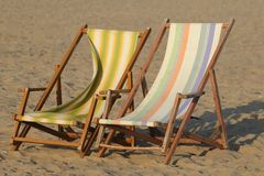 Folding chairs Stock Image