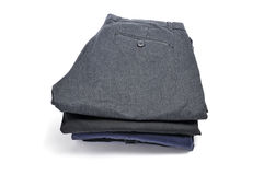 Folding clothes Stock Images