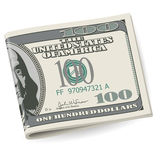 Folding dollars Royalty Free Stock Images