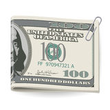 Folding dollars Stock Photography