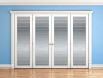 Folding door in the interior. 3d illustration stock photos