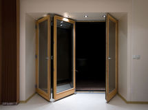 Folding doors Royalty Free Stock Image