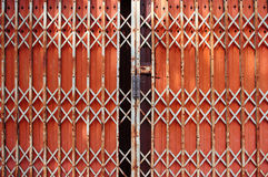 Folding Doors,Iron Door Stock Photography