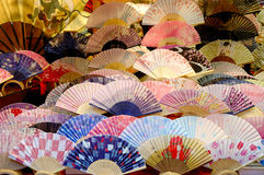 Folding fan. Beautiful folding fan in a shop,Janpan Stock Images