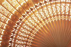 Folding fan background Royalty Free Stock Photography