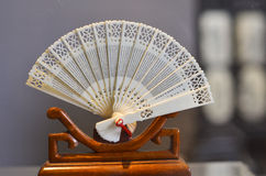 Folding fan of Bone Carving Royalty Free Stock Photography