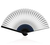 Folding Fan Silvery. Silvery folding fan - elegant, stylish, posh.  vector illustration on white background Stock Photography