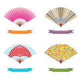 Folding fan vector Stock Photography