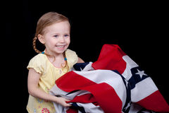 Folding The Flag Royalty Free Stock Image