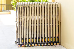 Folding gate. Royalty Free Stock Photography