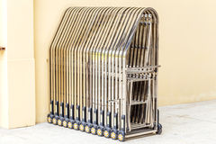 Folding gate. Royalty Free Stock Image