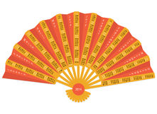 Folding hand fan 2014 calendar. Folding hand fan calendar for 2014 on white background vector illustration