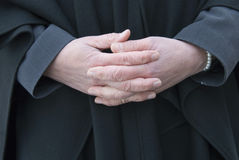 Folding hands Royalty Free Stock Photography