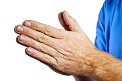 Folding hands of a man Royalty Free Stock Photos