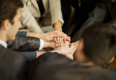 The folding of hands together Stock Image