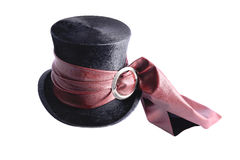 Folding hat with red ribbon Royalty Free Stock Photo