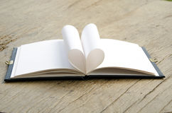 Folding Heart Journal. Stock Photography