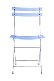 Folding iron chair. Royalty Free Stock Images