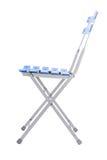 Folding iron chair. Royalty Free Stock Image