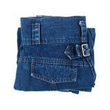 folding jeans isolated on white Royalty Free Stock Image