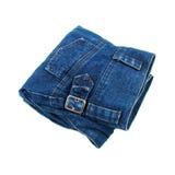 folding jeans isolated on white Stock Photo