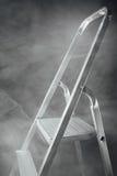 Folding ladder in smoke Royalty Free Stock Images