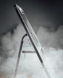 Folding ladder in smoke Royalty Free Stock Photography
