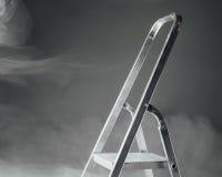 Folding ladder in smoke Stock Images