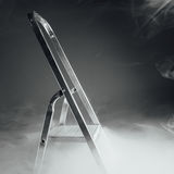 Folding ladder in smoke Royalty Free Stock Photo